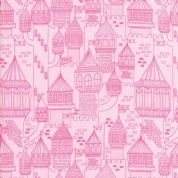 Moda - Once Upon a Time - Stacey Iest Hsu - 6245 - Fairy Castles in Pink - 20595 12 - Cotton Fabric